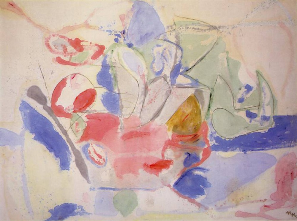 Helen Frankenthaler   Mountains and Sea,  1952