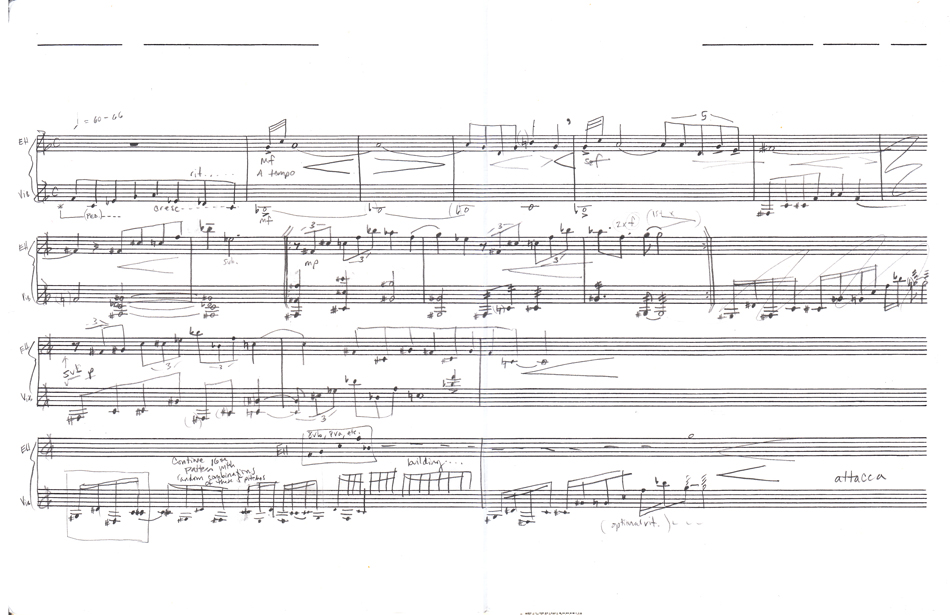 Excerpt,  Scene for English Horn and Vibraphone