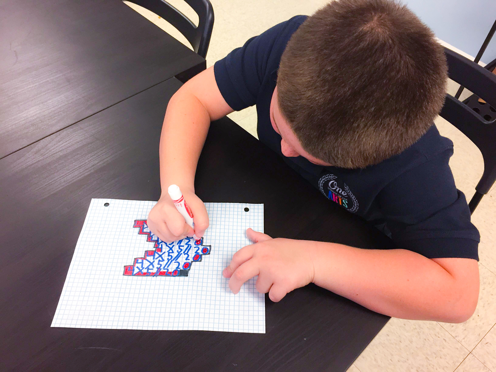 Ms. G - STEAM LAB REPORT : Lego Ratio and an Illusion Multiplication Art Activity