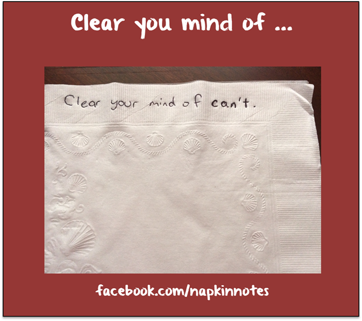 Napkin Note Classic: Clear your mind …     Pack. Write. Connect.