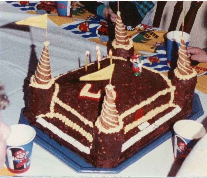 Jonathan's Mario Castle Cake