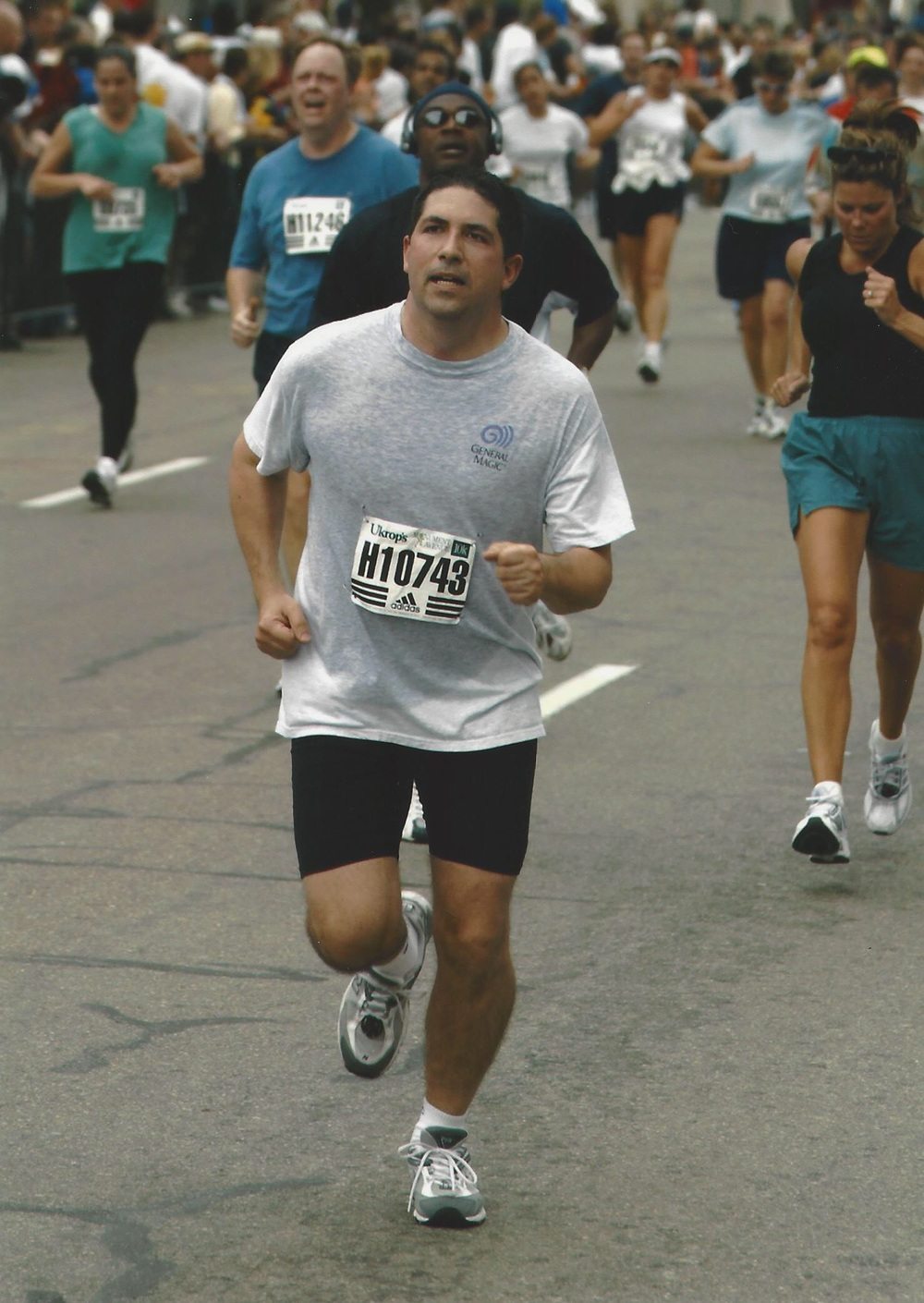 Garth runs the 10k in 2004