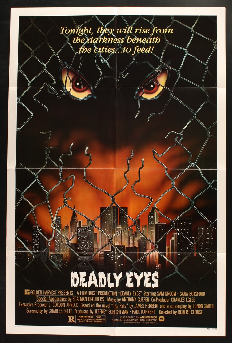 Deadly Eyes - US 1 Sheet