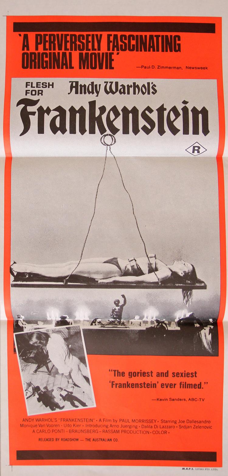 Andy Warhol's Frankenstein - Australian Daybill