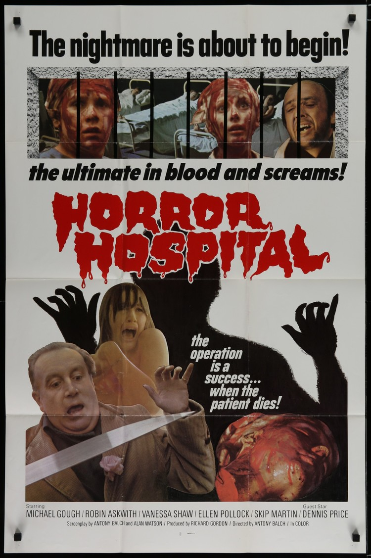 Horror Hospital - UK 1 Sheet