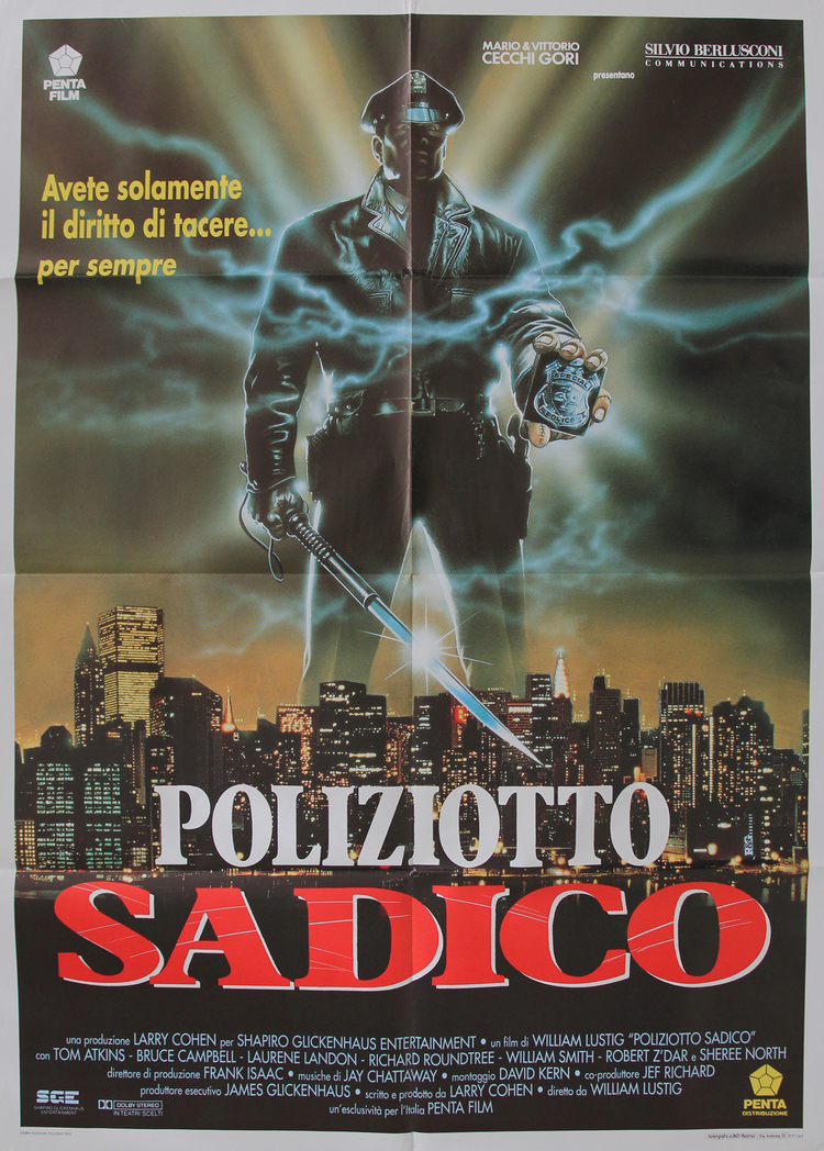 Maniac Cop - Italian 2F Manifesto