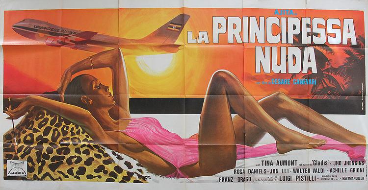 Nude Princess - Italian 6F Manifesto