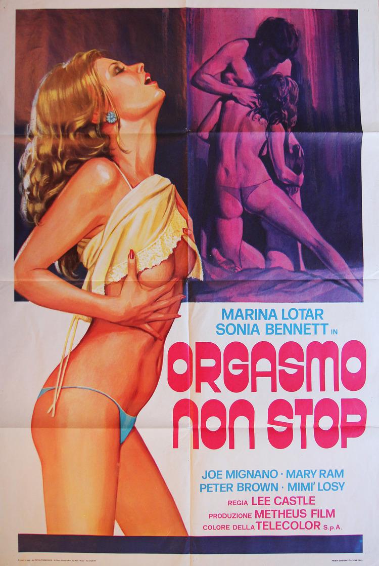 Orgasmo Non Stop - Italian 2F Manifesto