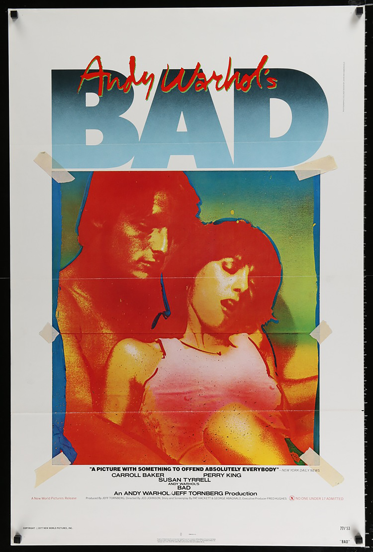 Bad, Andy Warhol's - US 1 SHEET