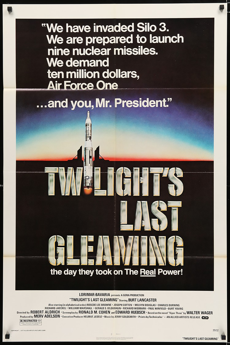 Twilight's Last Gleaming - US 1 Sheet