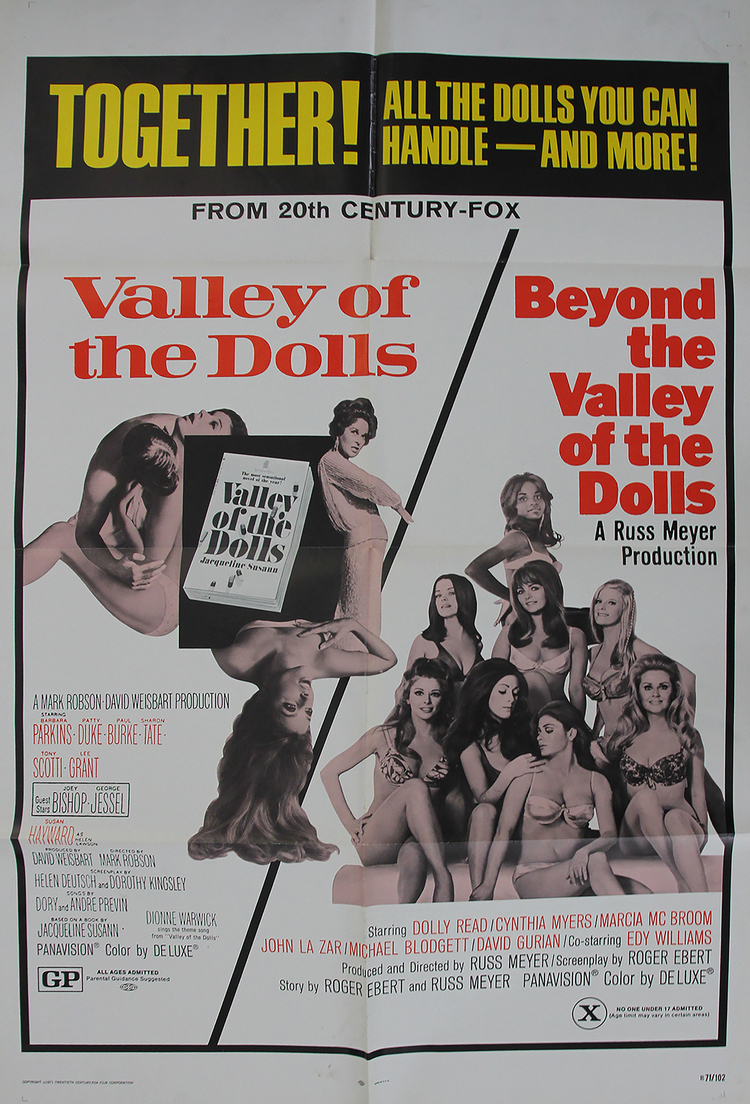 Valley of the Dolls/Beyond the Valley of the Dolls - US 1 Sheet
