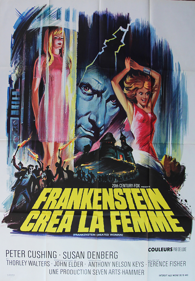 Frankenstein Created Woman - French 47 x 63