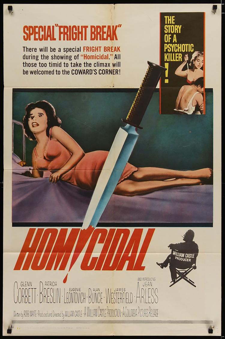 Homicidal - US 1 Sheet