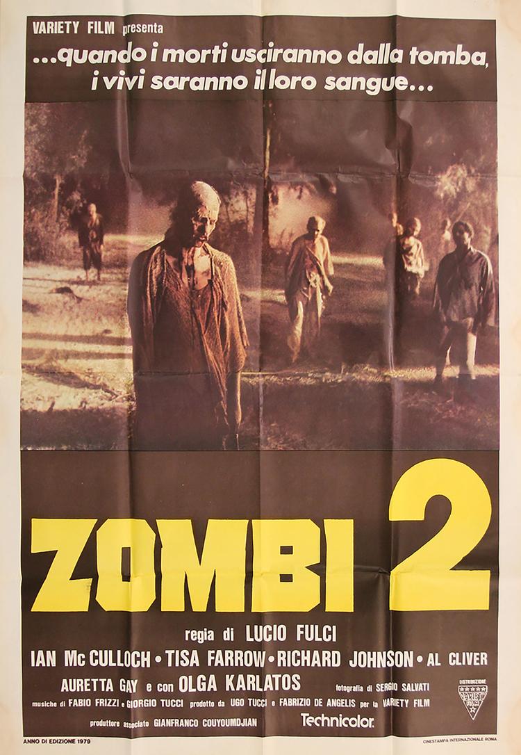 Zombie 2 - Italian 2F Manifesto