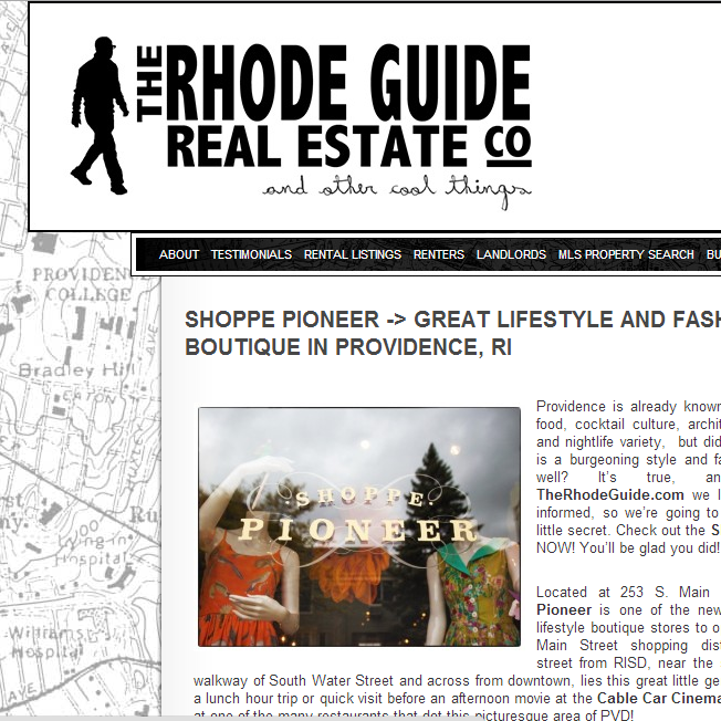 The Rhode Guide shares their input on Shoppe Pioneer