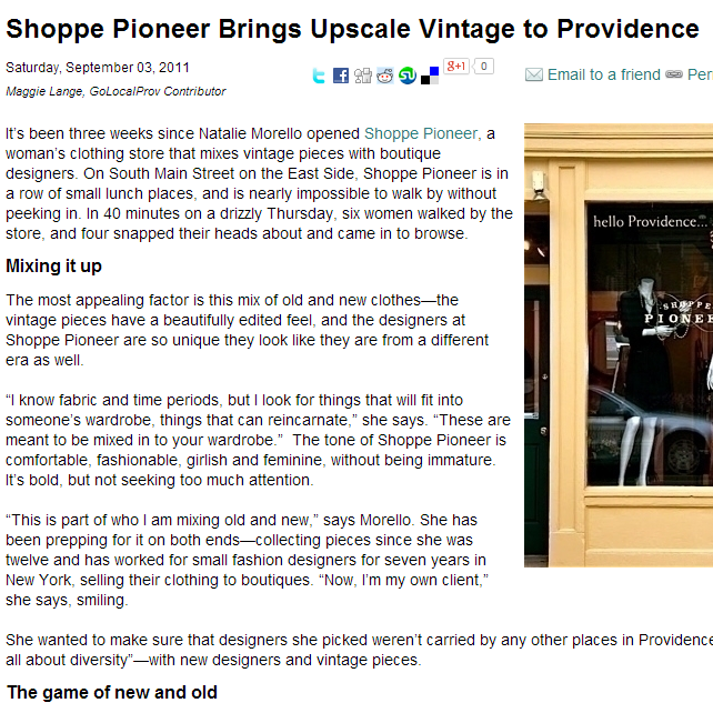 Go Local Prov  shares their insight on Shoppe Pioneer