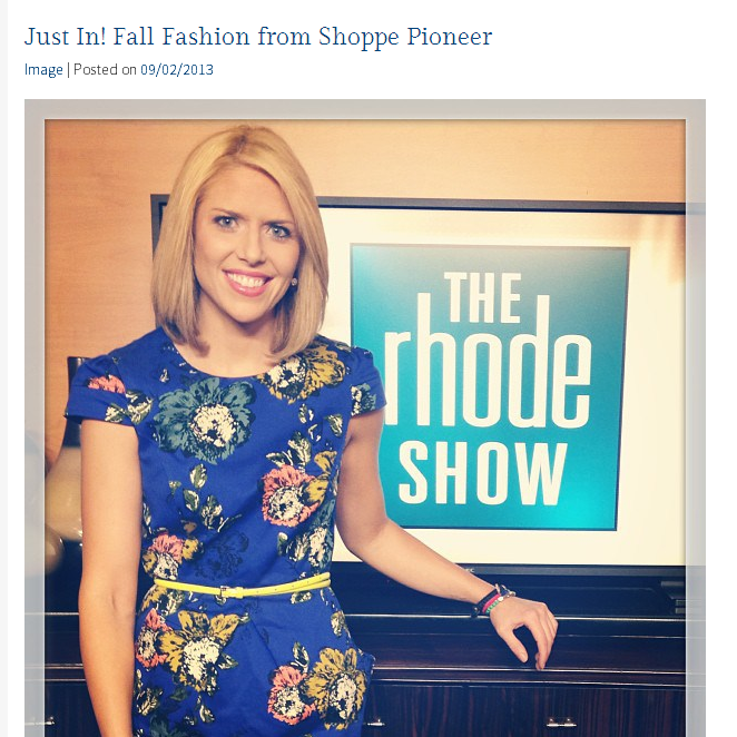 Meaghan Mooney shares her fall fashion favorites on The Rhode Show. September, 2013