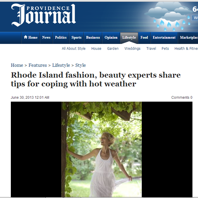 Providence Journal speaks with Natalie, where she shares what to wear on a hot day.  June, 2013