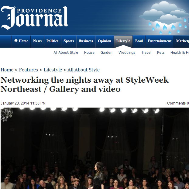 Providence Journal talks about Style week.  January, 2014