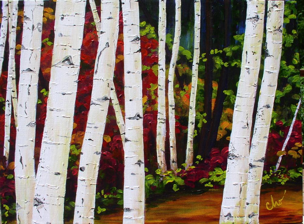 Birch Trees 12x16