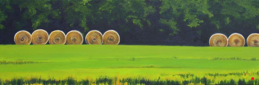Haybales--10x30 June 2011