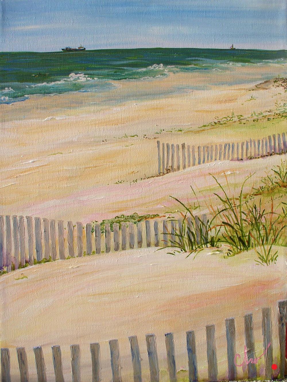 Sand Fences 16x12 2008