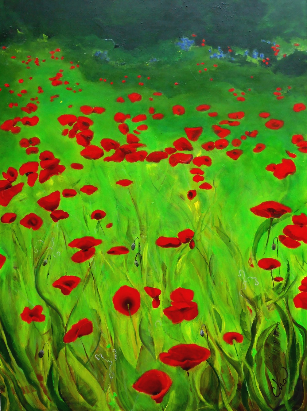 Poppy Field (Canton, NC) 40x30 May 2014.JPG