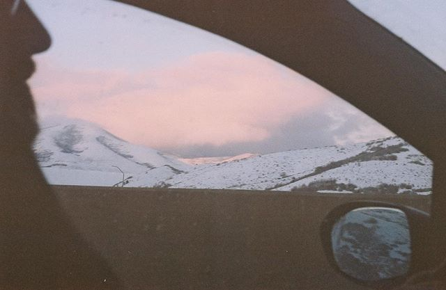 At the wheel arriving in Idaho at the end of winter tour. Sun Valley, ID // Winter Tour // February 2016