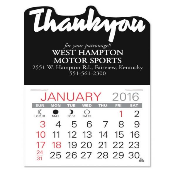 C. Thank You Value Stick Calendar