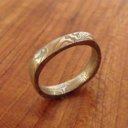 three mokume copy ring mens of band products tone and gane her letterstosarah rings his metalsmithing
