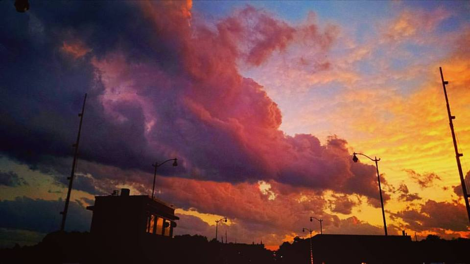 Sunset sky image from Downtown Racine. Photo by Christopher Sklba 2016.