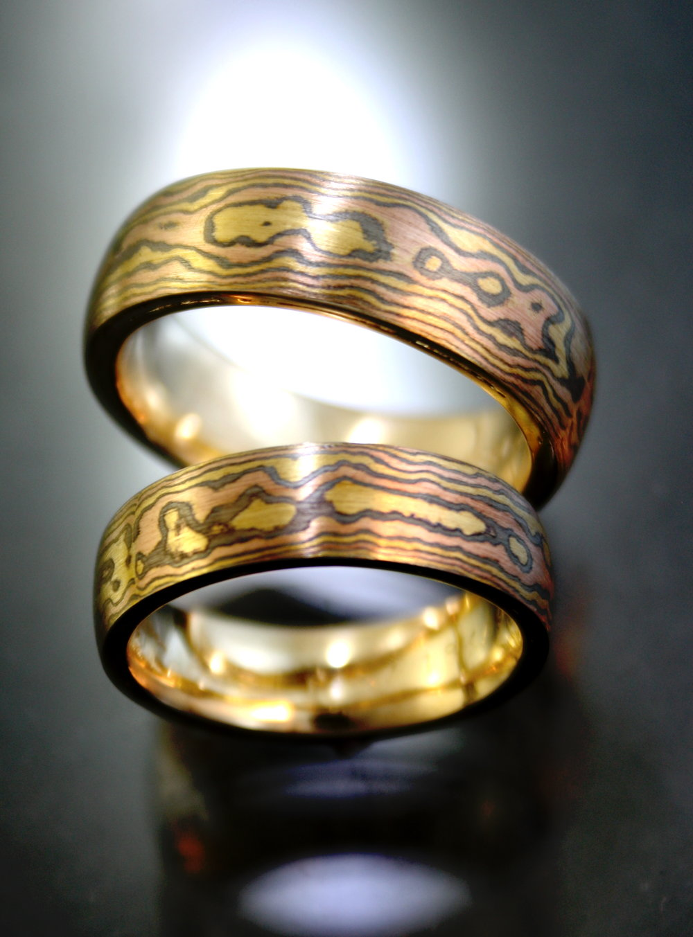 mokume wedding set.jpg