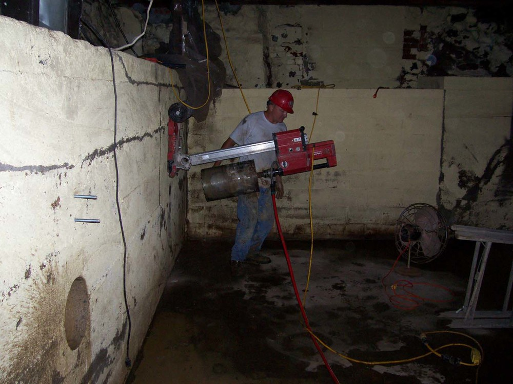 Concrete Cutting for Helical Tie Back.jpg