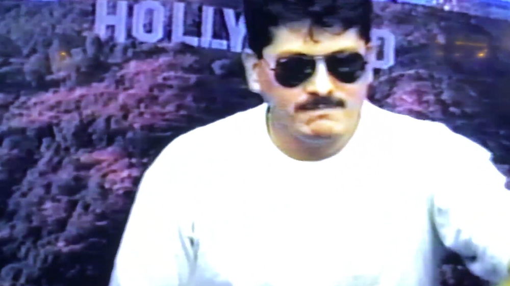 "VHS footage still from the short film ""Dad, God and Time"""