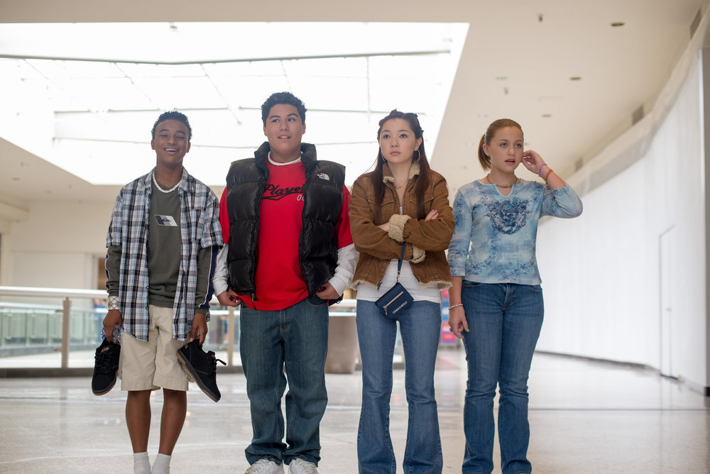 "Four ""middle schoolers"" take the local shopping mall - (set photos by Kell Riches)"