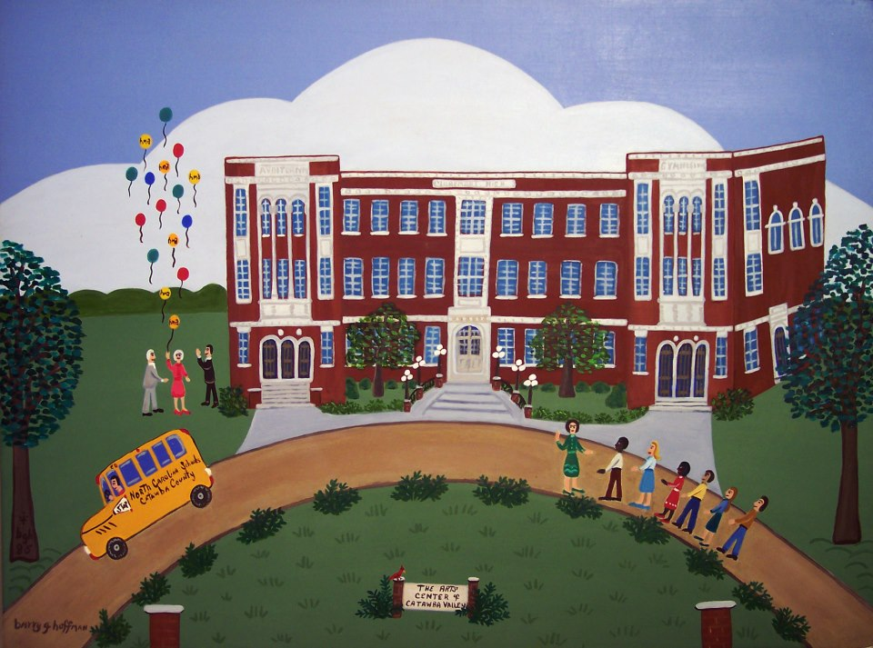 Barry G. Huffman (born 19   4   3)  The Arts Center of Catawba Valley , 1985 oil on panel Gift of the artist, 1985.3