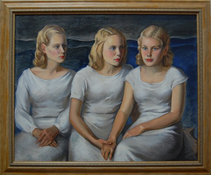 Frank Stanley Herring (1894-1966) The Three Sisters, 1929 oil on canvas Gift of Mrs. Frank (Beth) Stedman, 2003.31