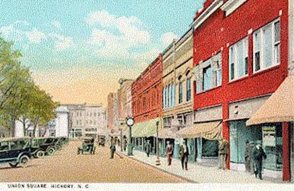 Union Square, Hickory, circa 1930
