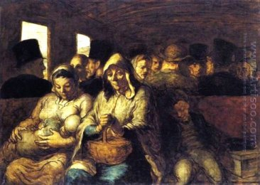 Daumier/ Third Class Carriage . The third-class carriage was full of citizens who were in the bottom of society.