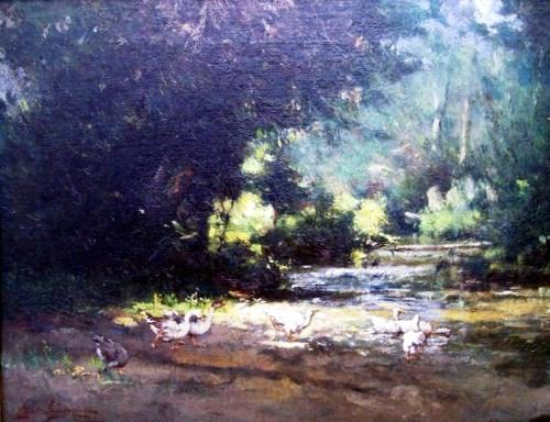 daingerfield-Geese by a Stream 1905.jpg