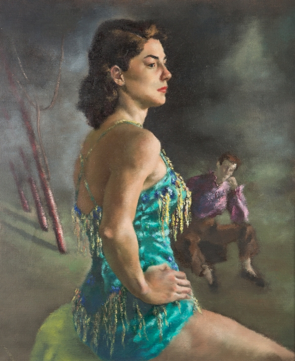 The Aerialist , n.d. oil on canvas Purchase from the artist, 1952.3