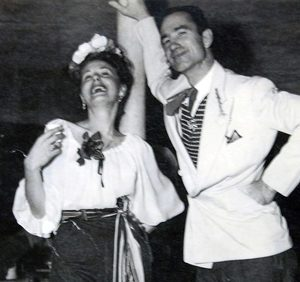 Mickey and Paul dancing at a costume event in the early 1950's.