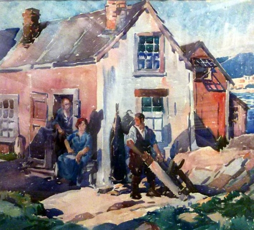 George Pearse Ennis watercolor Village Carpenter.jpg
