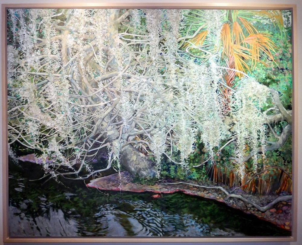 Elizabeth Bradford  S  panish Moss,     2014 oil on canvas Museum purchase funded by Wells Fargo, 2014.9