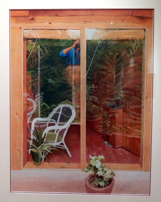 Beverly Schoonover Reflections II (Artist Reflecting in Garden Room), 1988 pastel on paper Gift of James M. Goode in memory of Dorothy Goode and in honor of George Goode, 1991.9.19