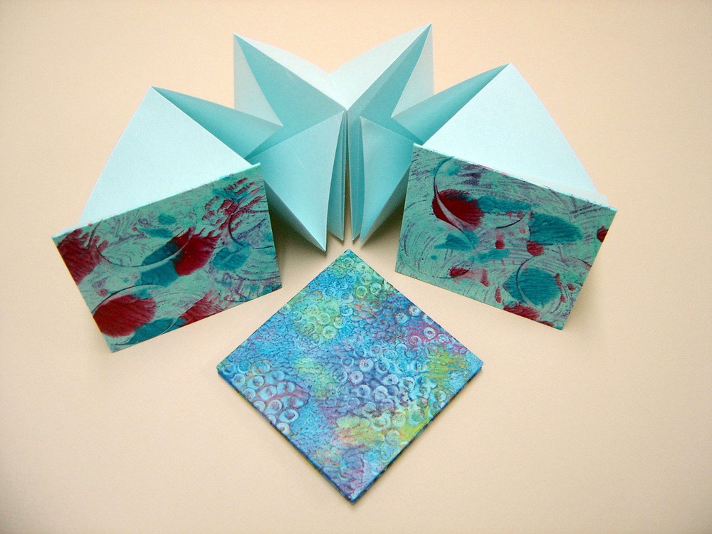 Blue Origami Book with Paste Papers.jpg