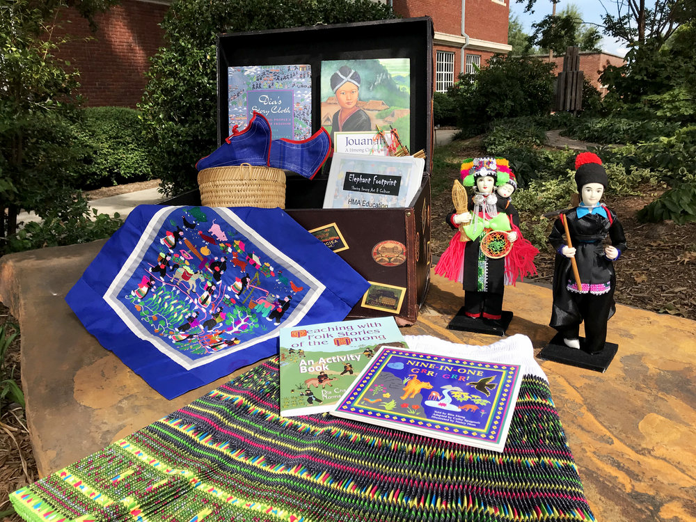 Hmong Kit   |  Books, story-cloths, clothing, posters, DVD, lesson plans, and additional items about Hmong cultures.