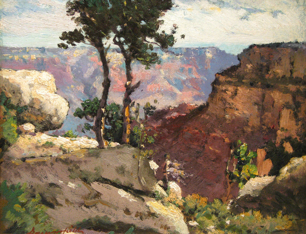 Elliott Daingerfield (1859-1932)  Grand Canyon . 1912 oil on board Private Collection