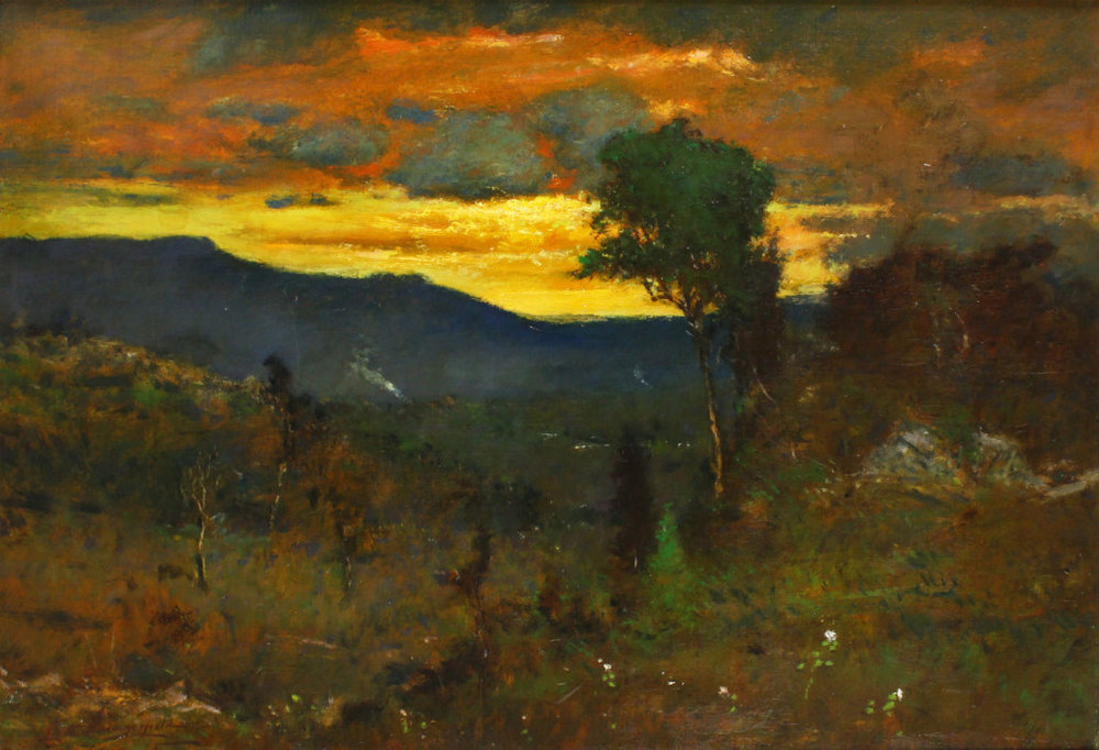 Elliott Daingerfield (1859-1932),  Twilight, Grandfather Mountain,  oil on canvas, Collection of Tim and Diane Miller