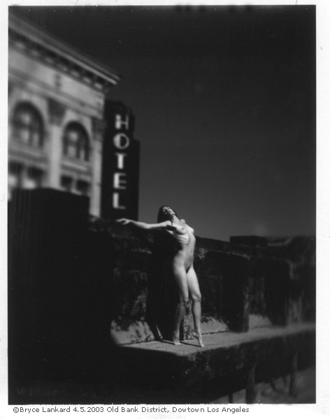 zoewiseman: On the roof of my old Downtown LA loft. © 2003 Bryce Lankard - Yummy Polaroid Type 665. Model: ME